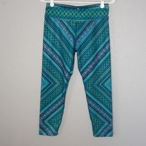Prana Blue, Green, Purple Geometric Print Leggings